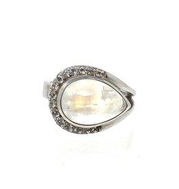 CZ Moonstone Ring