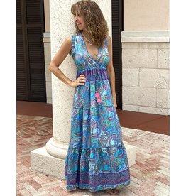 Blue Laura Boheme Dress