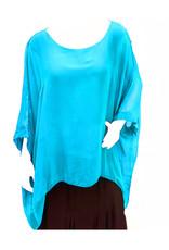 Aqua Silk Sleeve Top