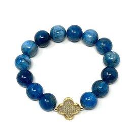 Apatite & Vermil CZ Clover Bracelet