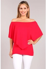 Convertible Poncho Top Red