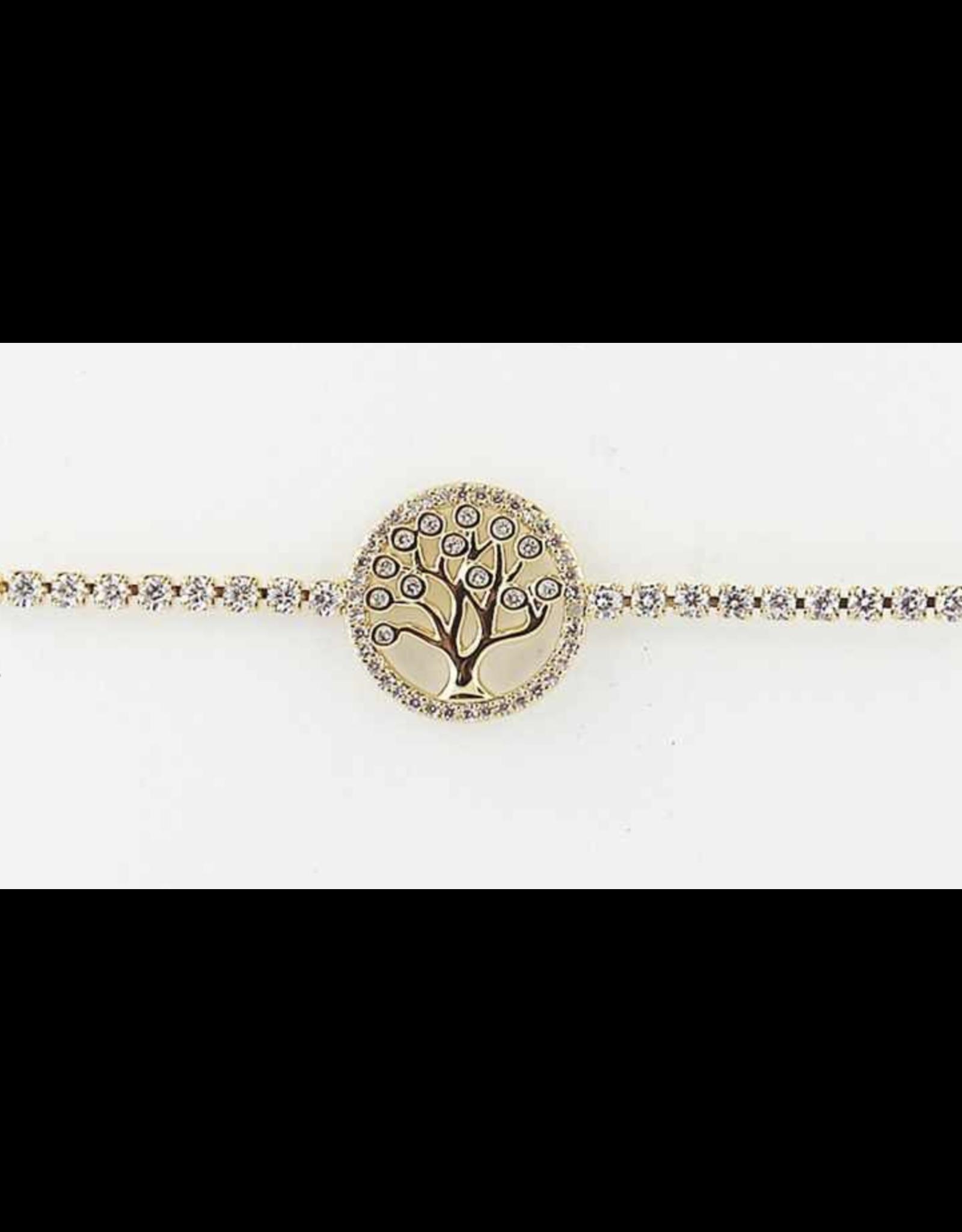 Sunrise USA Trading Gold Tree CZ Adj. Bracelet