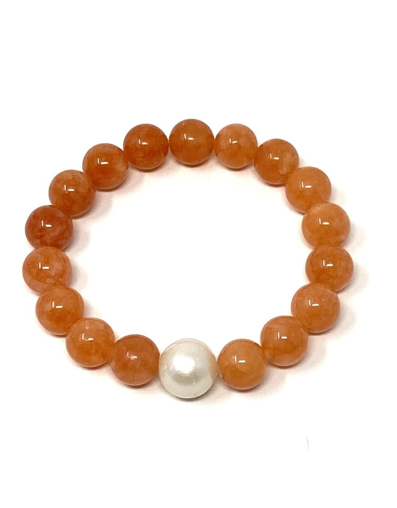 Peach Agate & FWP Bracelet