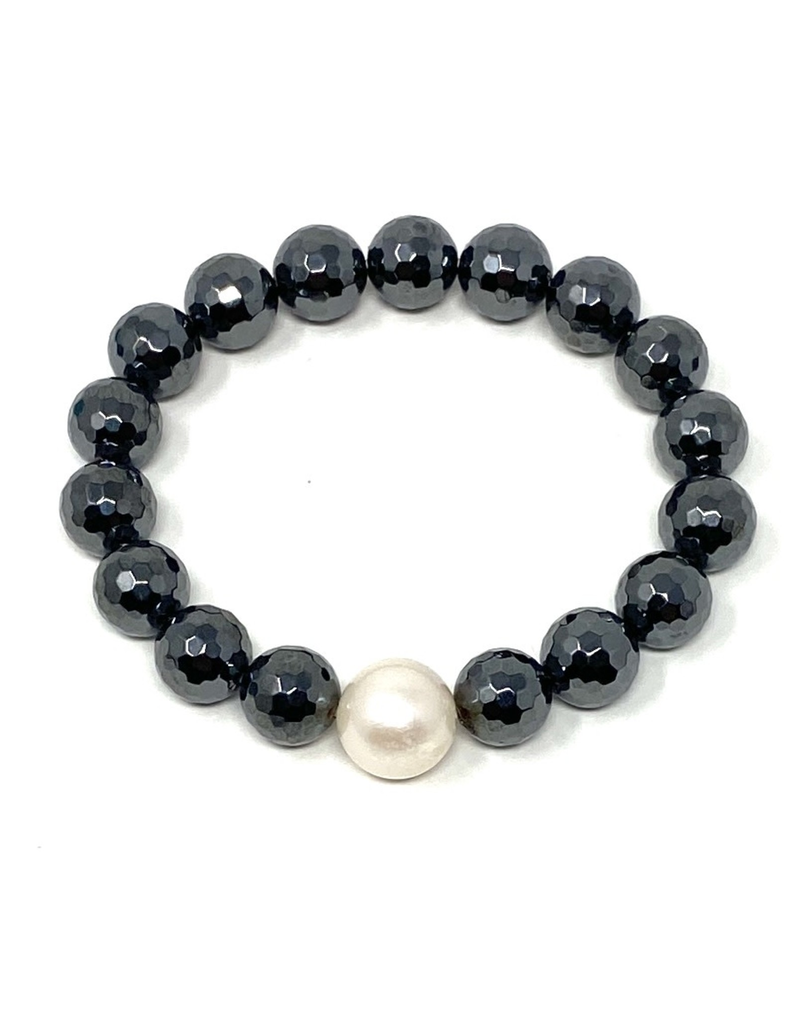 Hematite & FWP Bracelet