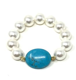 Shell Pearl & Turquoise (H) Bracelet