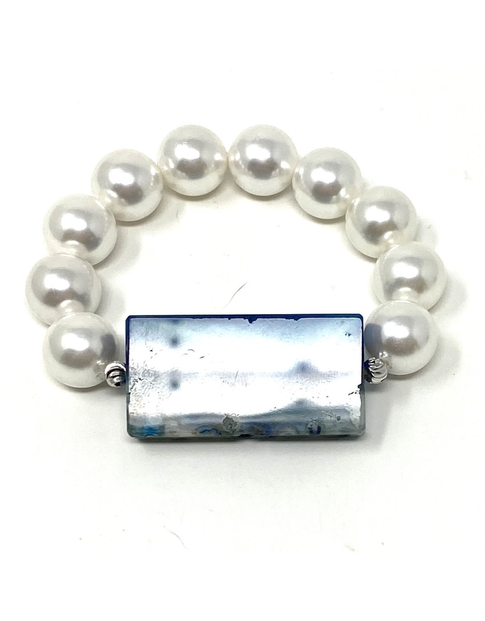 Shell Pearl & Ocean Agate Bracelet