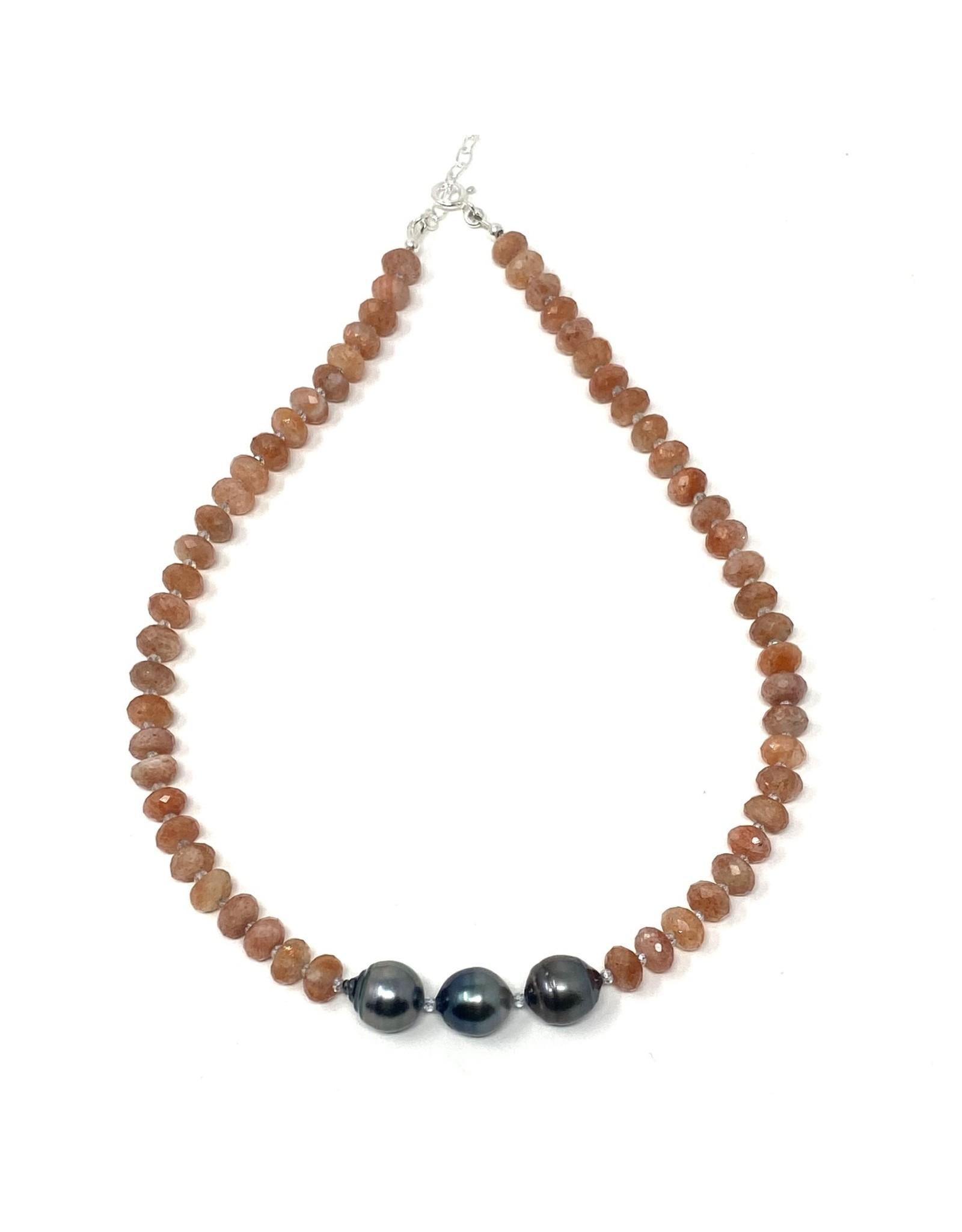 Tahitian Pearl & Carnelian Necklace