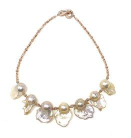 RG Hematite & Baroque Pearl Necklace