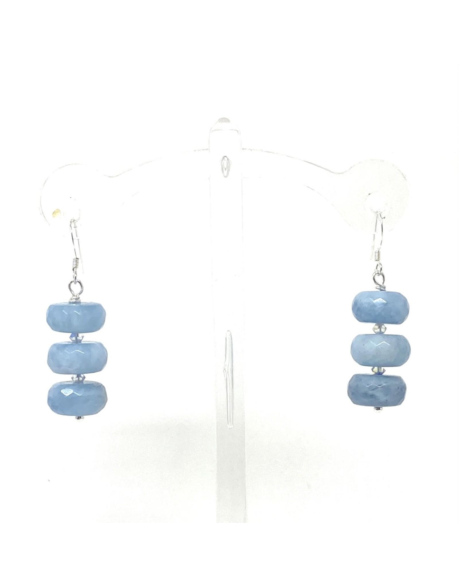 A+ Aquamarine  Earrings