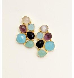 Bali Queen Stone Honeycomb Earrings