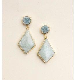 Bali Queen Sky Blue Druzy Earrings