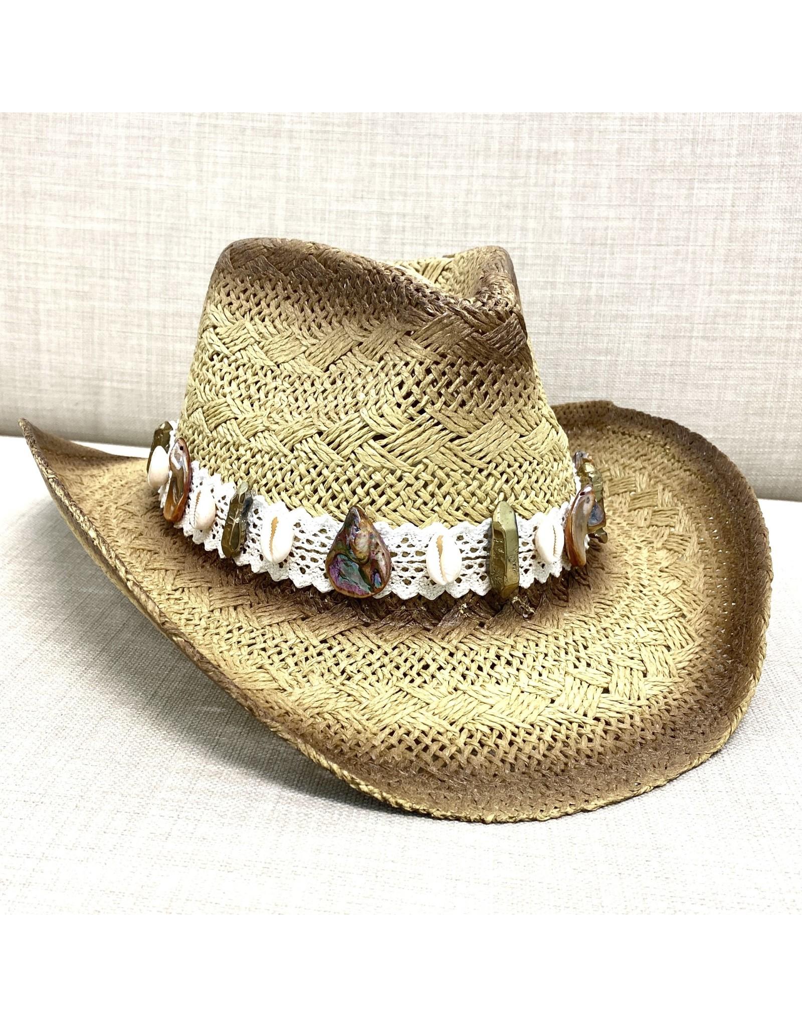 My Gypsy Child Cowrie & MOP Cowboy Hat