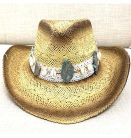 My Gypsy Child Cowrie & Agate Cowboy Hat