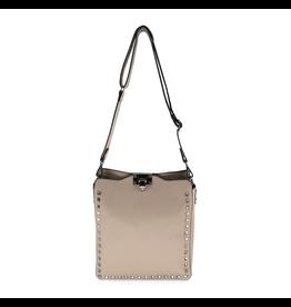 Taupe Long Stud Valentine Bag