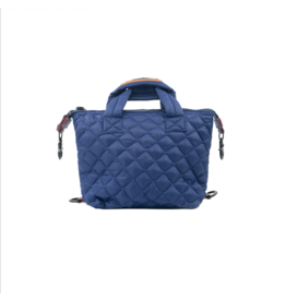 Navy Mini Quilted Bag