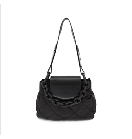 Black Chain Quilted Bag