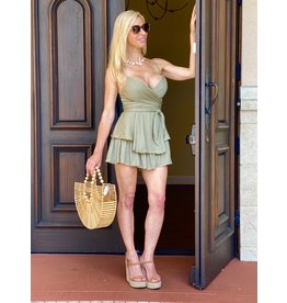 One & Only Collective Olive You Romper