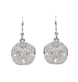 Ocean Jewelry Crystal Sand Dollar Drop Earrings