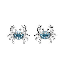 Ocean Jewelry Blue Crystal Crab Studs