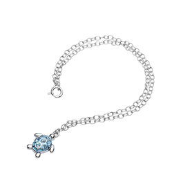 Ocean Jewelry Turtle with Aqua Crystal Anklet