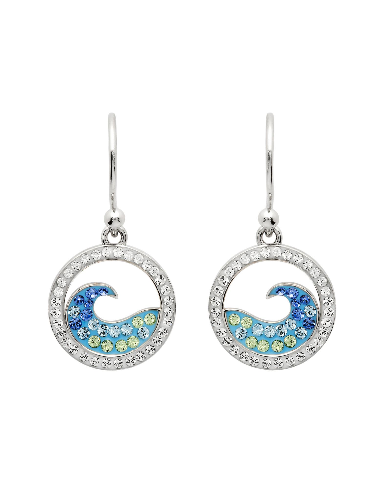 Ocean Jewelry Swarovski Wave Drop Earrings