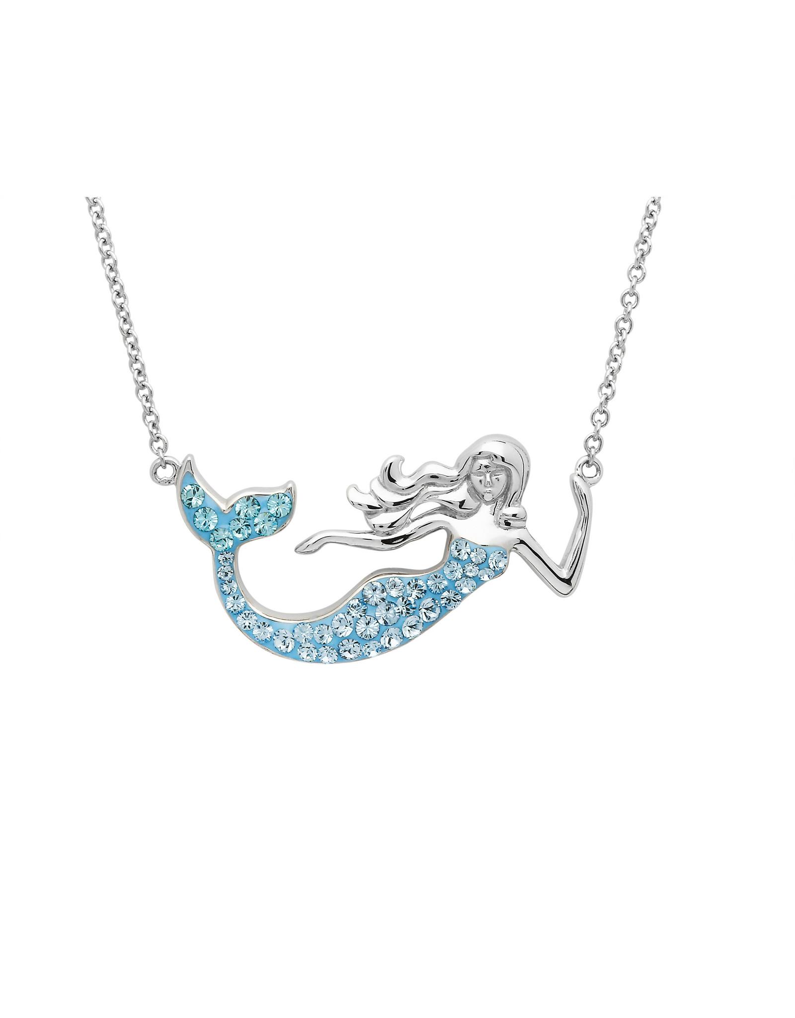 Ocean Jewelry Swarovski Aqua Mermaid Necklace