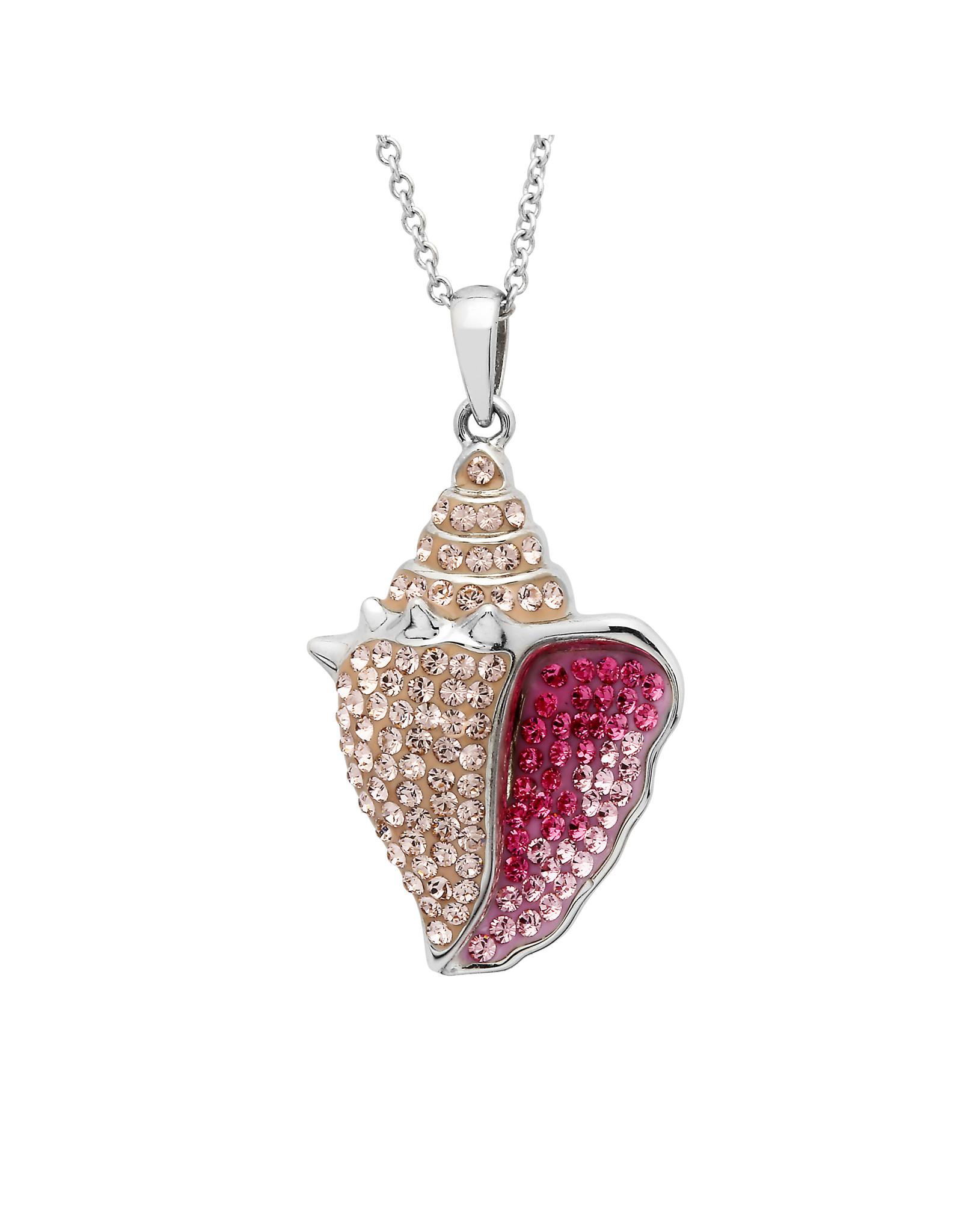 Ocean Jewelry Swarovski Conch Pendant