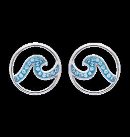Ocean Jewelry Wave SW Aqua Earrings