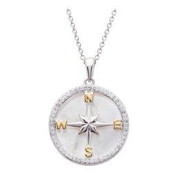 Ocean Jewelry SW MOP Compass Pendant