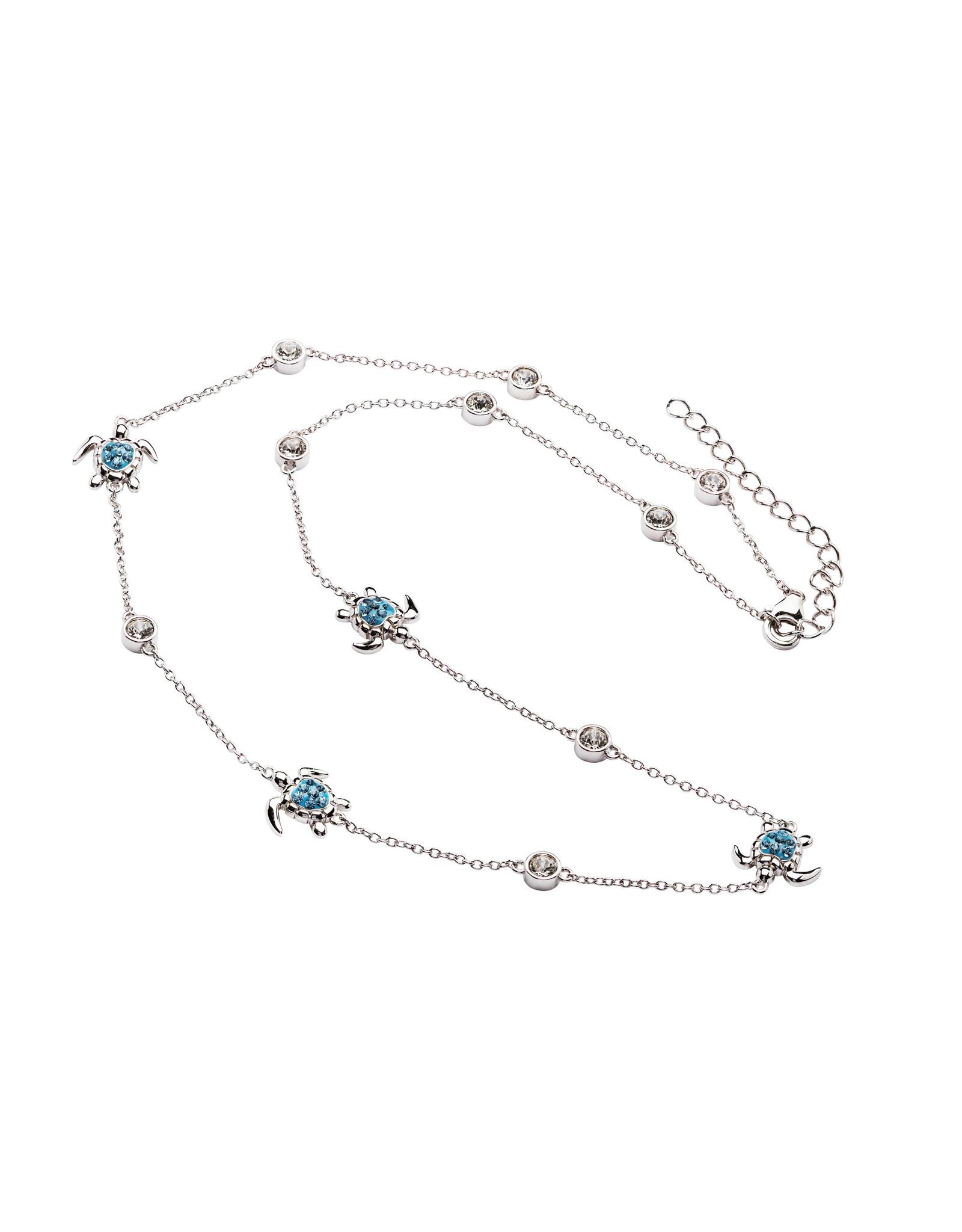 Ocean Jewelry Aqua Turtle Necklace