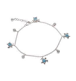 Ocean Jewelry Aqua Turtle Bracelet