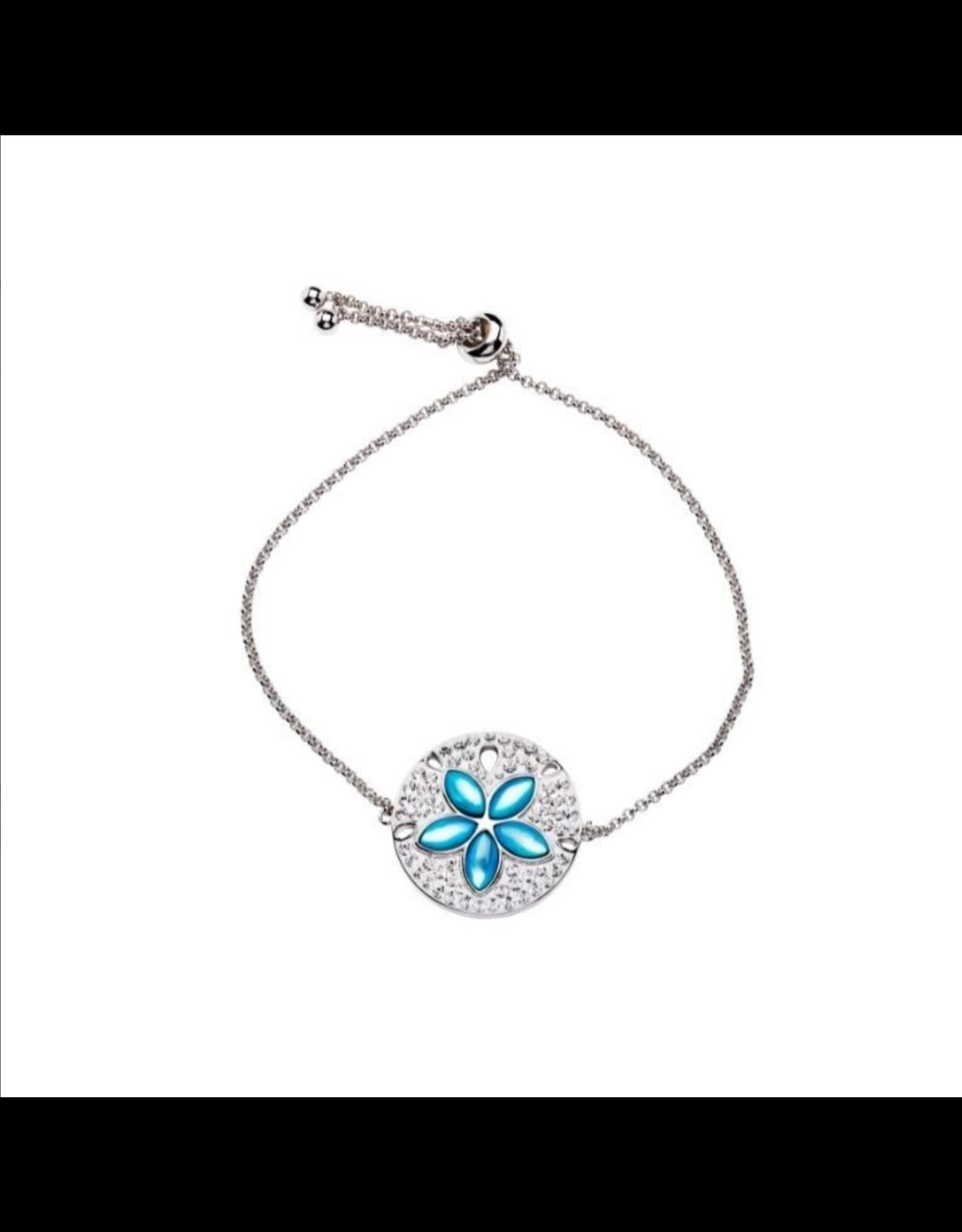 Ocean Jewelry Aqua MOP Sand Dollar Bracelet
