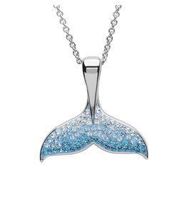 Ocean Jewelry Aqua SW Whale Tale Pendant
