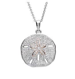 Ocean Jewelry White SW Crystal Sand Dollar Pendant