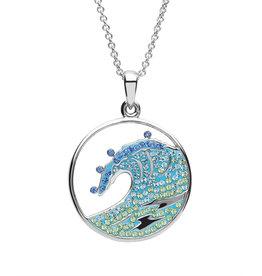 Ocean Jewelry Blue Wave SW Crystal Pendant