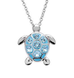 Ocean Jewelry Med SW Crystal Turtle Pendant