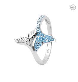 Ocean Jewelry Swarovski Whale Tail Ring