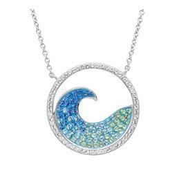 Ocean Jewelry Swarovski Wave Pendant