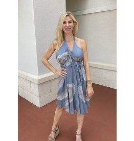 Grey Marble Short Pyramid Dress