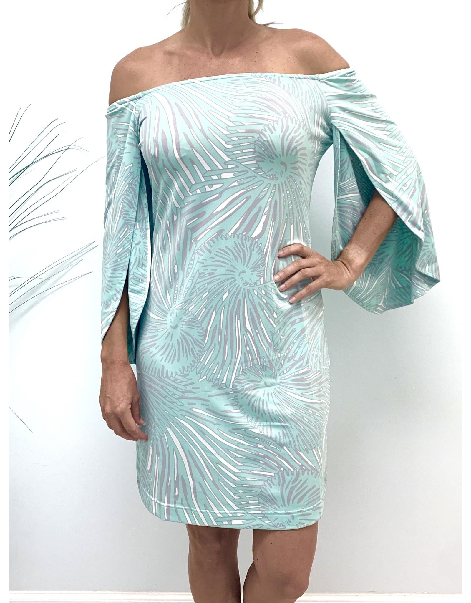La Mer Lux Mint Shell Ashby Dress