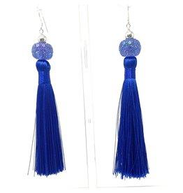 Royal Crystal Tassel Earring