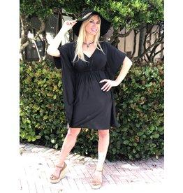 La Mer Lux Black Kimono Dress