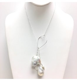 A++ Baroque Pearl Lariat