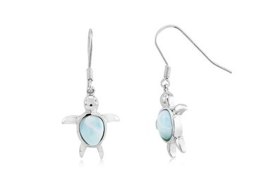 Silver and Larimar