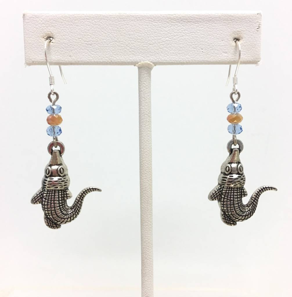 3 Bead Gator Earrings