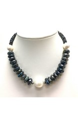 Faceted Labradorite & Baroque Pearl