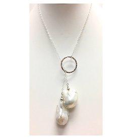 A+ Baroque Pearl Circle Lariat