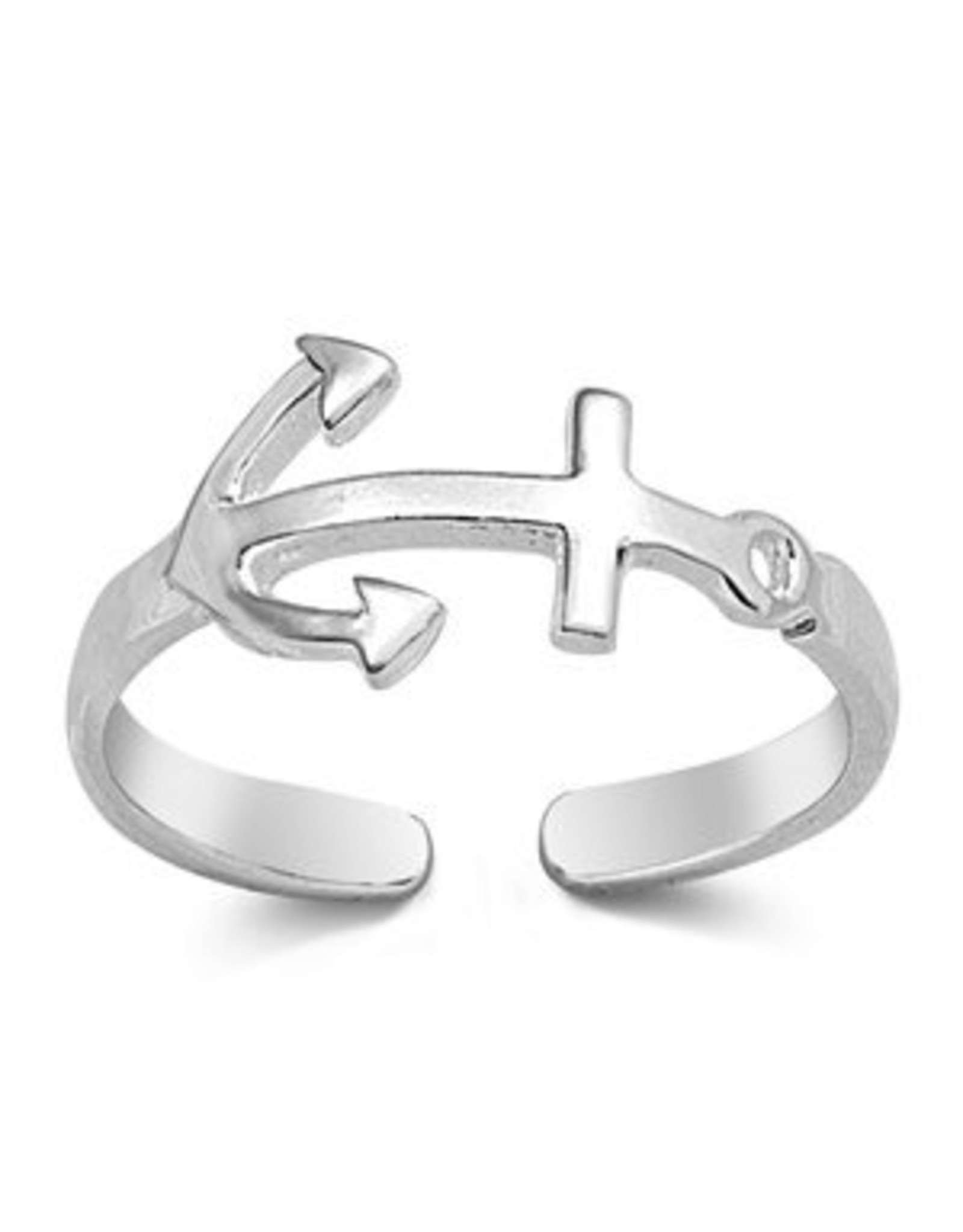 Sterling Anchor Toe Ring