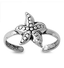 Sterling Starfish Toe Ring