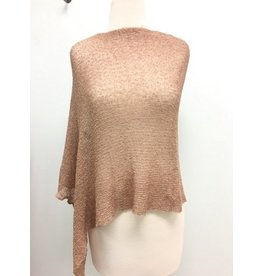 Sheer 5 Way Poncho Blush w/Gold Metallic